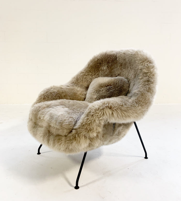 Vintage Eero Saarinen Womb Chair Restored in New Zealand Sheepskin - FORSYTH