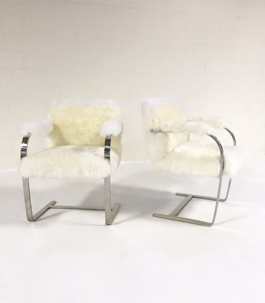 Mies Van Der Rohe Brno Chairs For Knoll In New Zealand Sheepskin