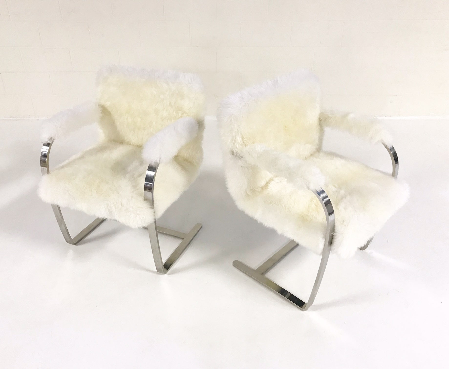 Brno Chairs in New Zealand Sheepskin, pair - FORSYTH