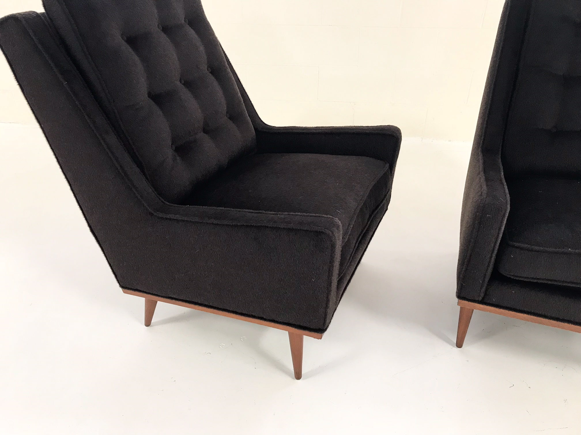 Lounge Chairs in Loro Piana Alpaca Wool, pair - FORSYTH