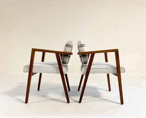 Model 48 Chairs in Calfskin and Isabel Marant Silk Wool, pair - FORSYTH
