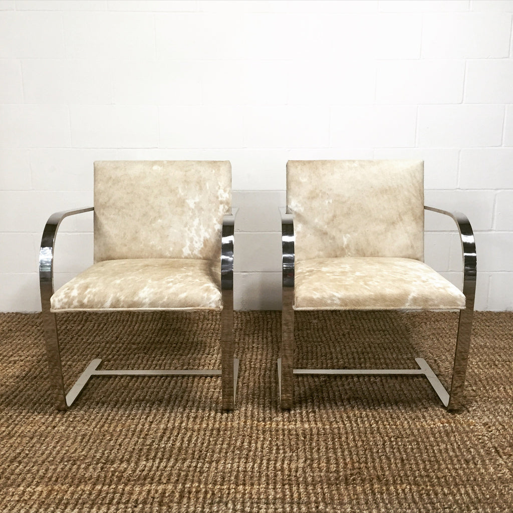 Mies Van Der Rohe Brno Chairs for Knoll in Brazilian Cowhide – FORSYTH | furniture stores in brno