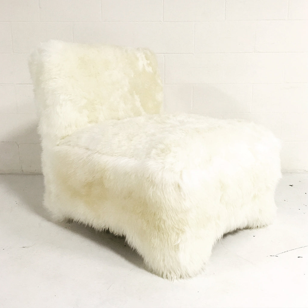Vintage Slipper Chair in New Zealand Sheepskin - FORSYTH