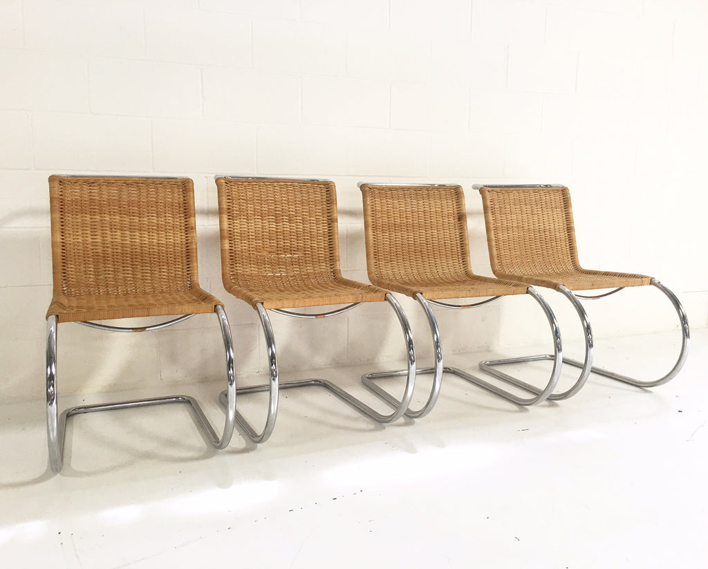 Set Of Four Mr 10 Side Chairs By Ludwig Mies Van Der Rohe For Knoll
