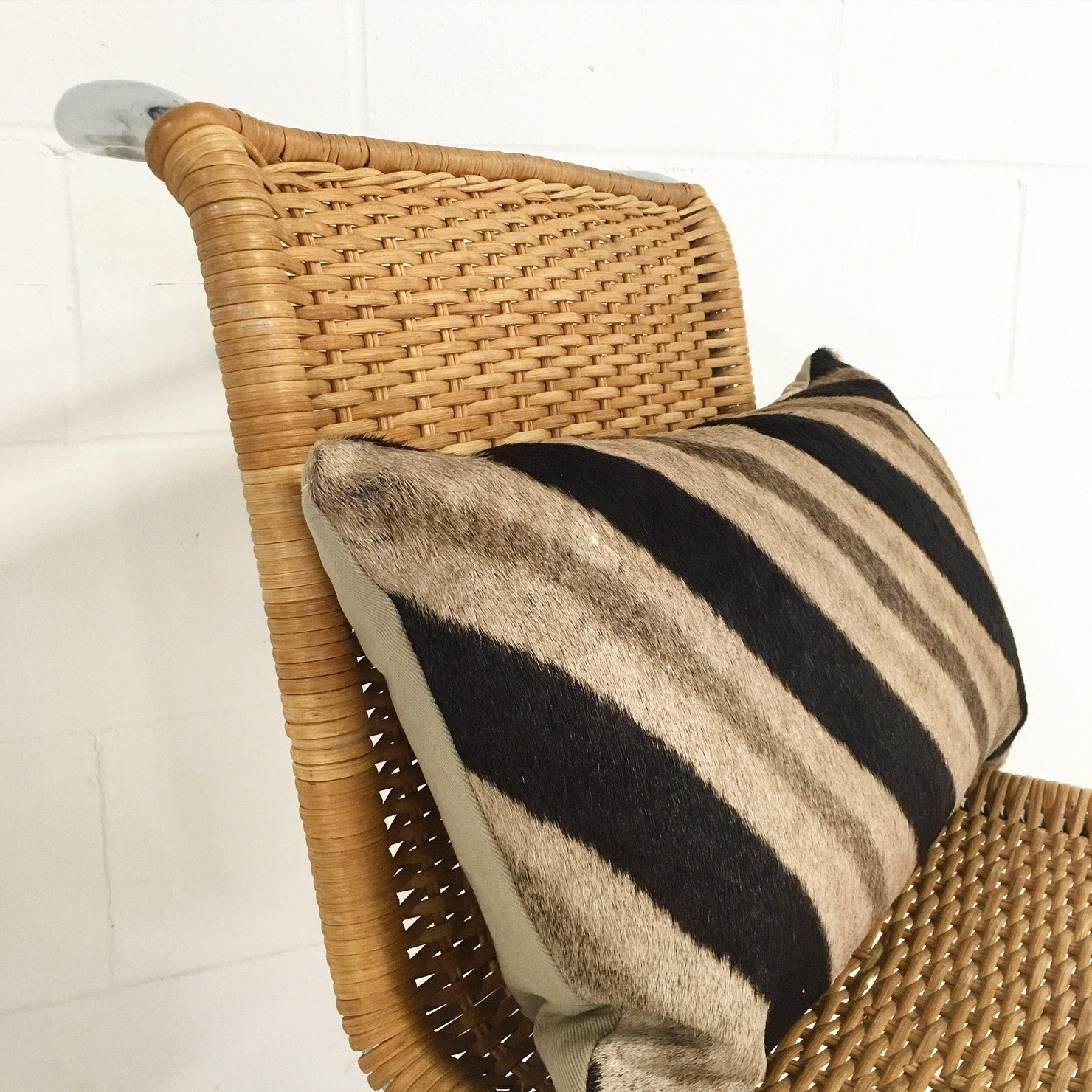 MR 10 Side Chairs with Zebra Hide Pillows, set of 4 - FORSYTH
