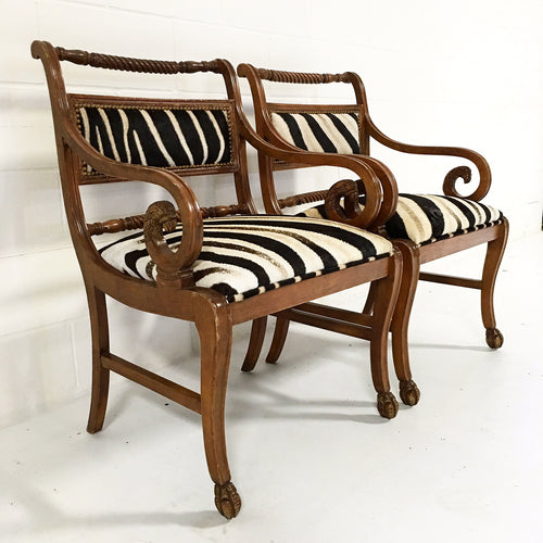 Armchairs in Zebra Hide - FORSYTH