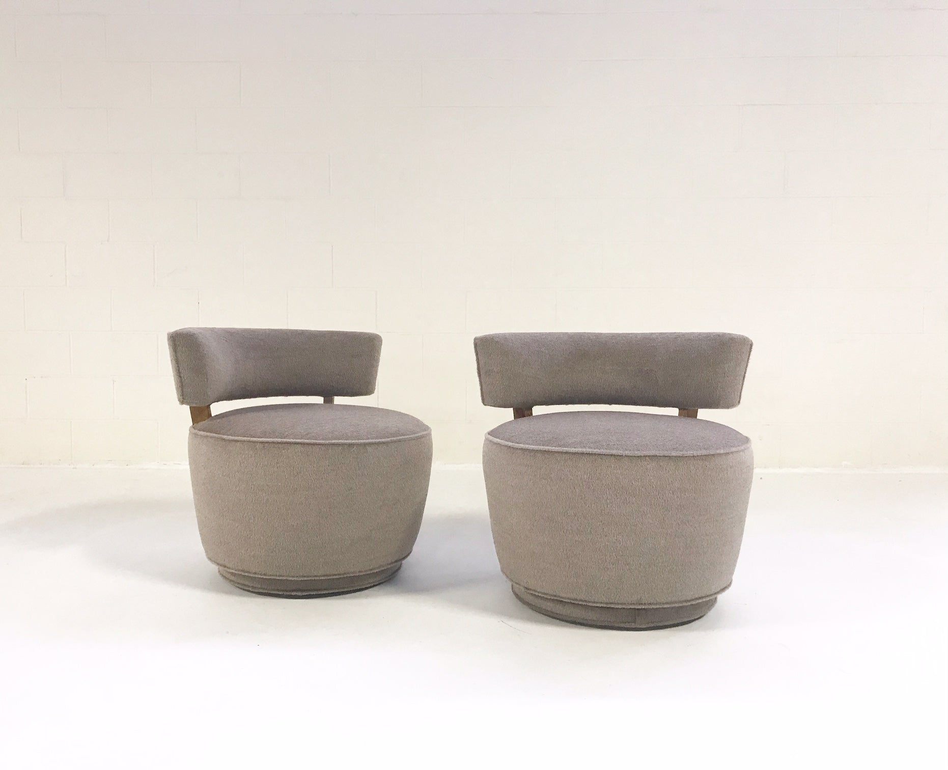 Tub Chairs in Loro Piana Alpaca Wool, pair - FORSYTH