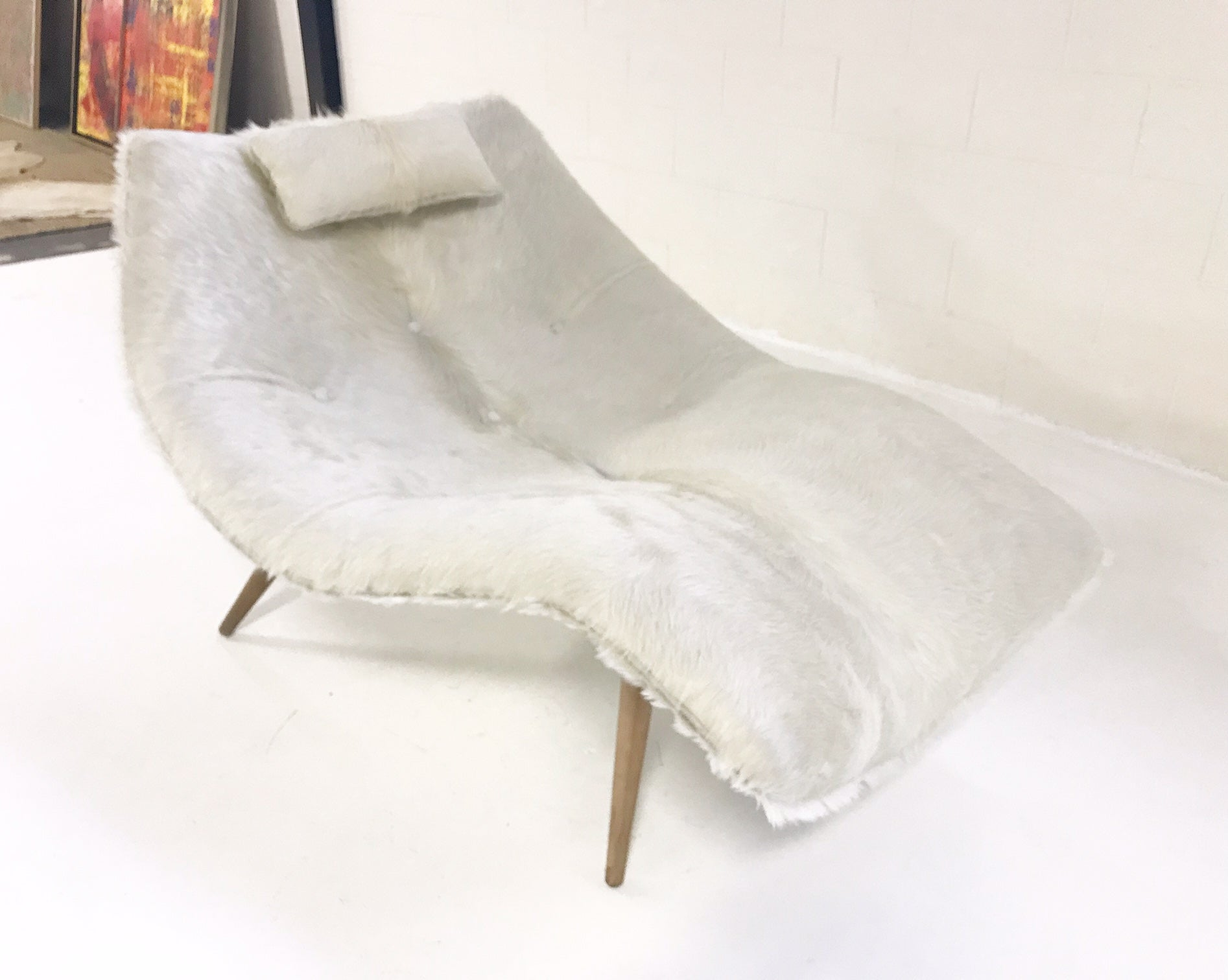 1828 C Chaise Lounge in Brazilian Cowhide - FORSYTH