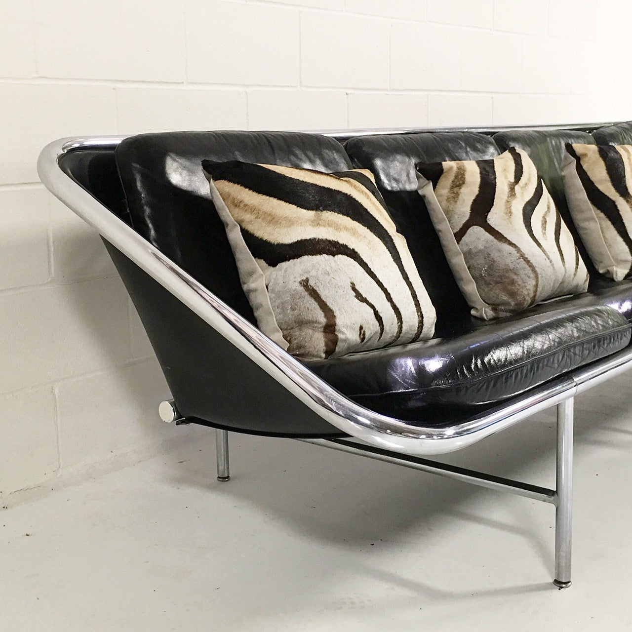 Model 6833 Sling Sofa with Zebra Pillows - FORSYTH