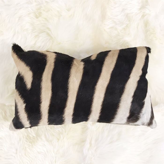 ZEBRA HIDE PILLOW, NO. 63