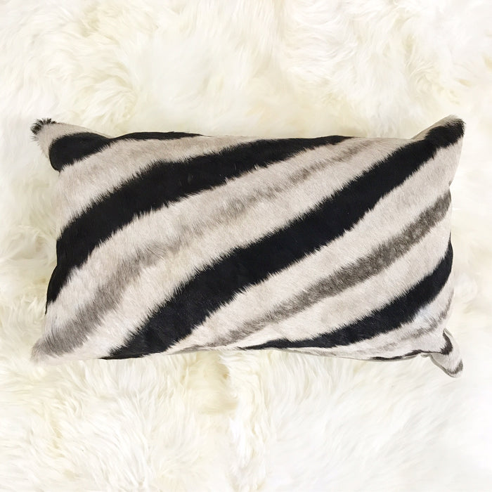 ZEBRA HIDE PILLOW, NO. 56