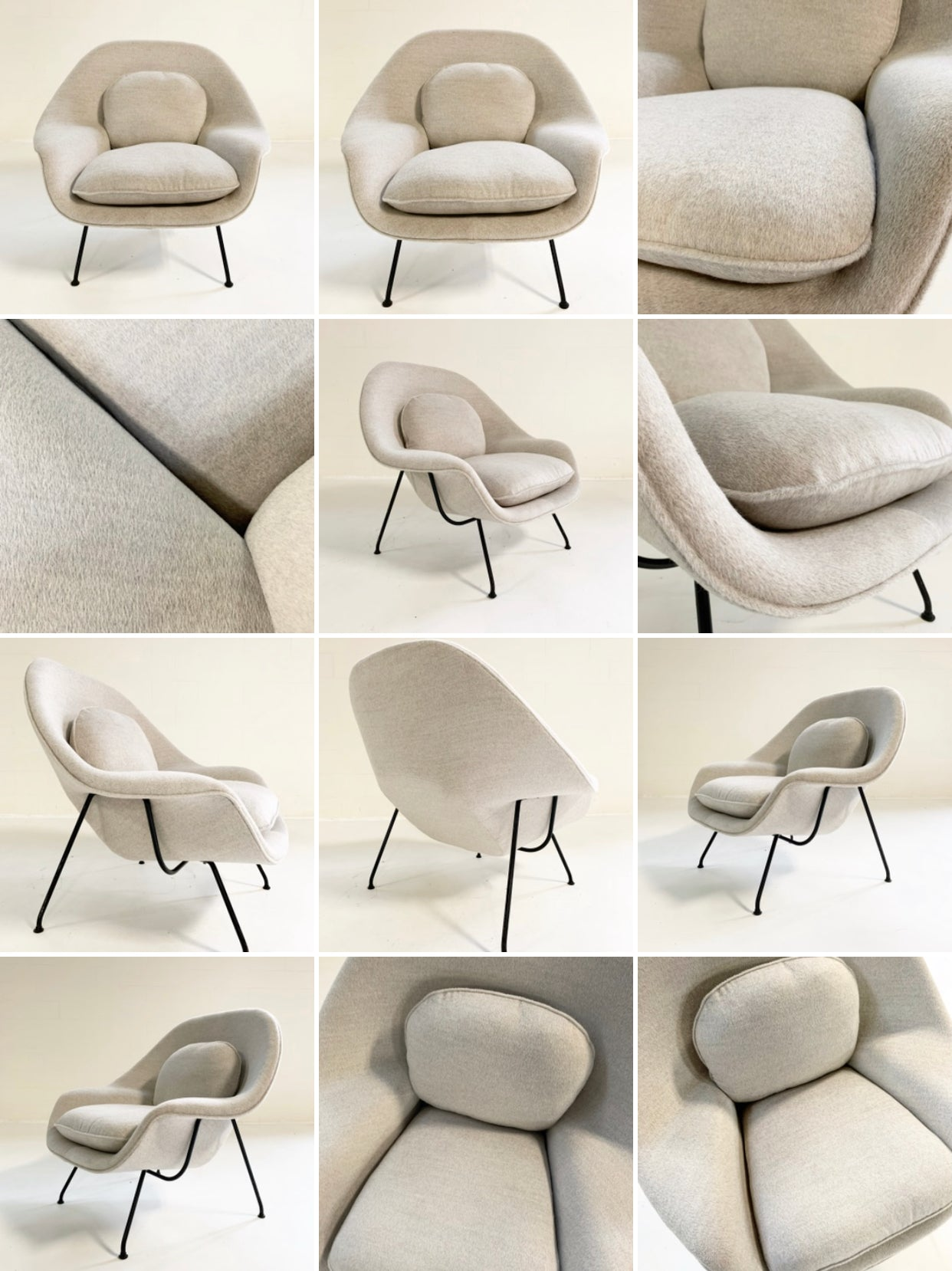 Womb Chair in Loro Piana Alpaca Wool - FORSYTH
