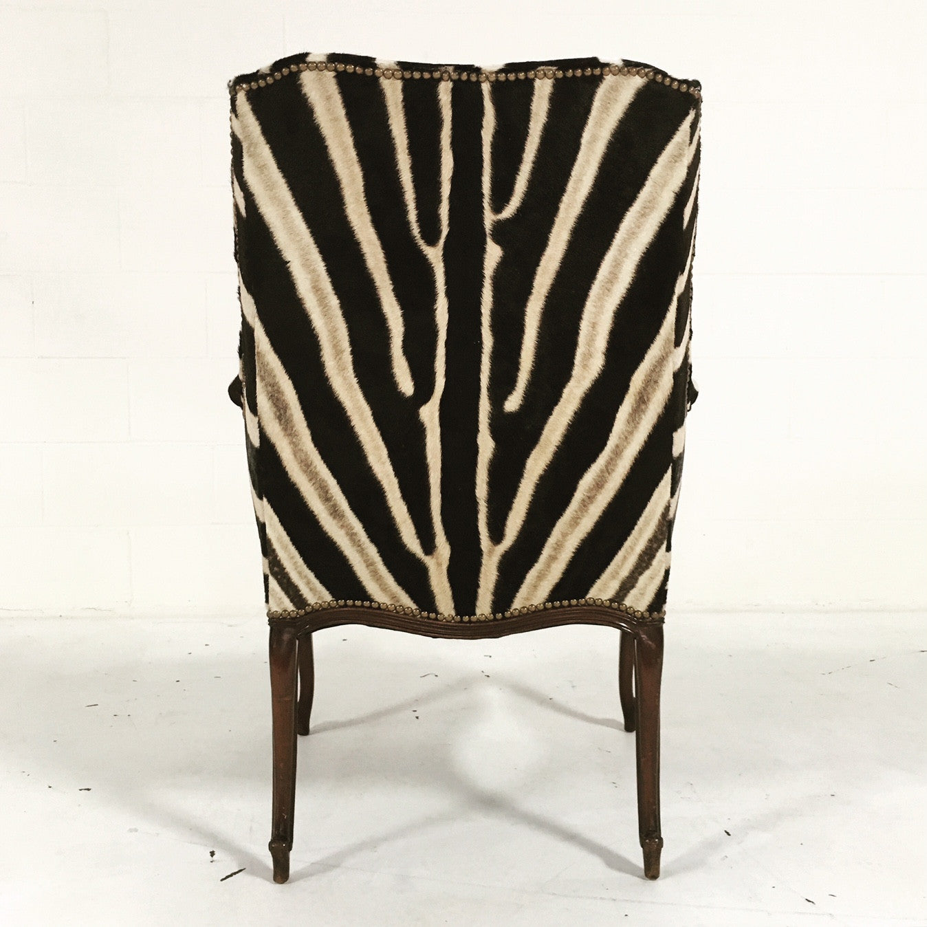 English Wingback in Zebra Hide - FORSYTH
