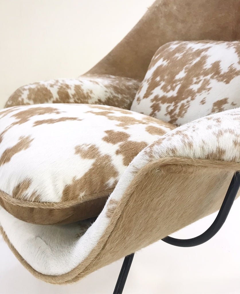 Vintage Eero Saarinen Womb Chair Restored in Brazilian Cowhide - FORSYTH