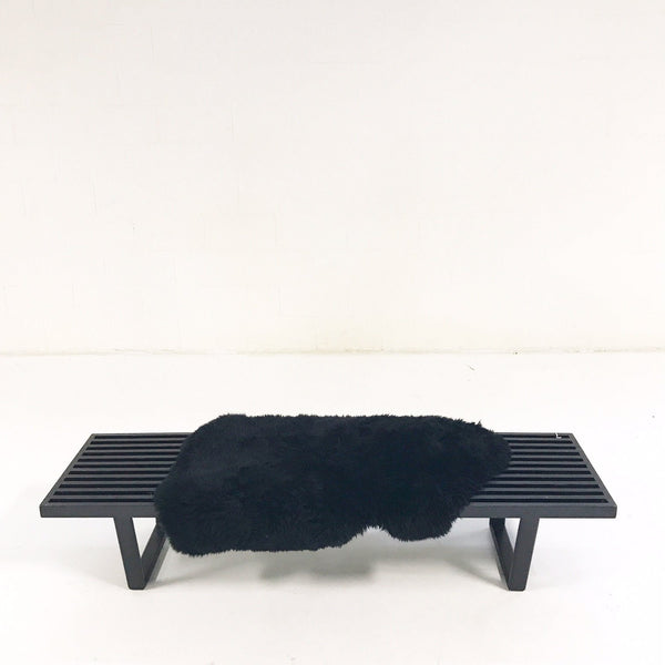 Model 4692 Platform Bench with Brazilian Sheepskin Throw - FORSYTH