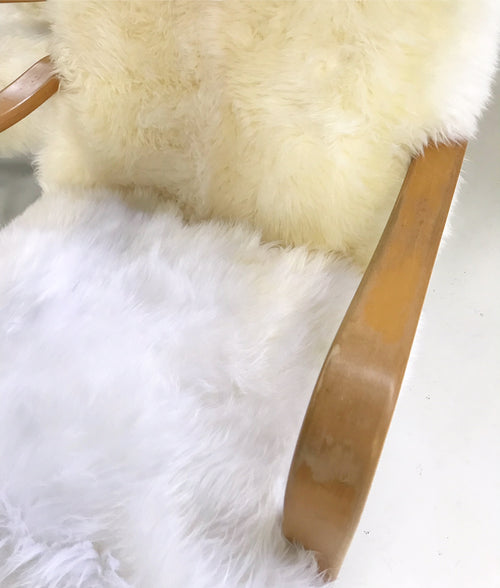 Bentwood Chairs in New Zealand Sheepskin, pair - FORSYTH