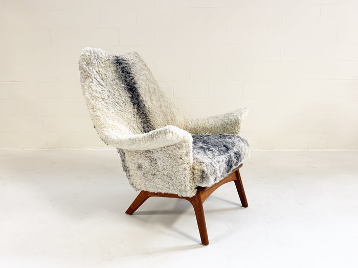 Adrian Pearsall for Craft Associates 1611 C Chair Restored in Gotland Sheepskin - FORSYTH