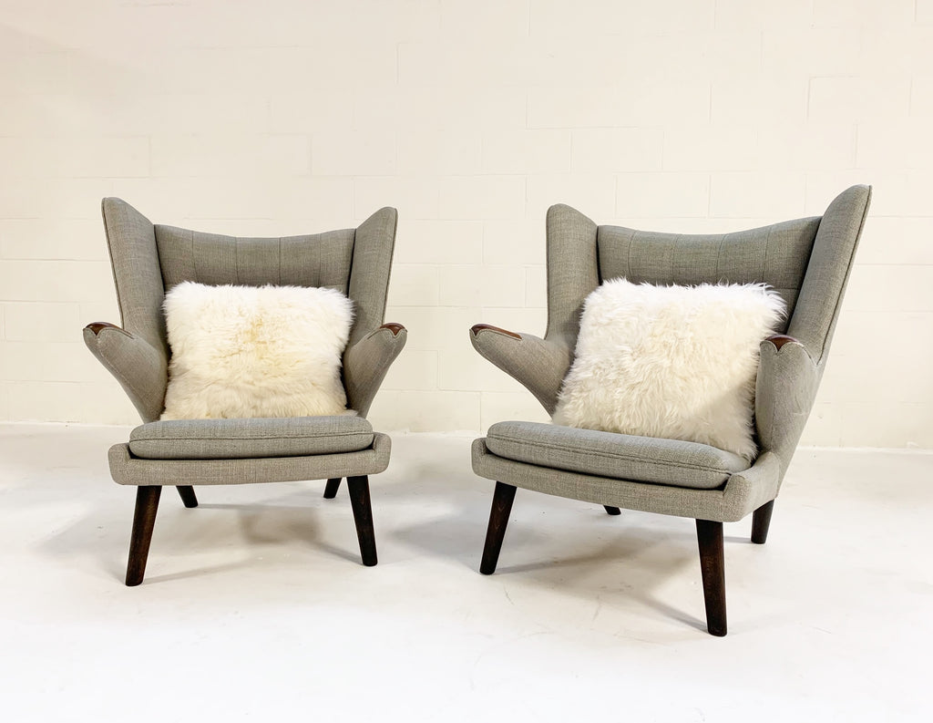 Papa Bear Chairs with Ottomans - FORSYTH