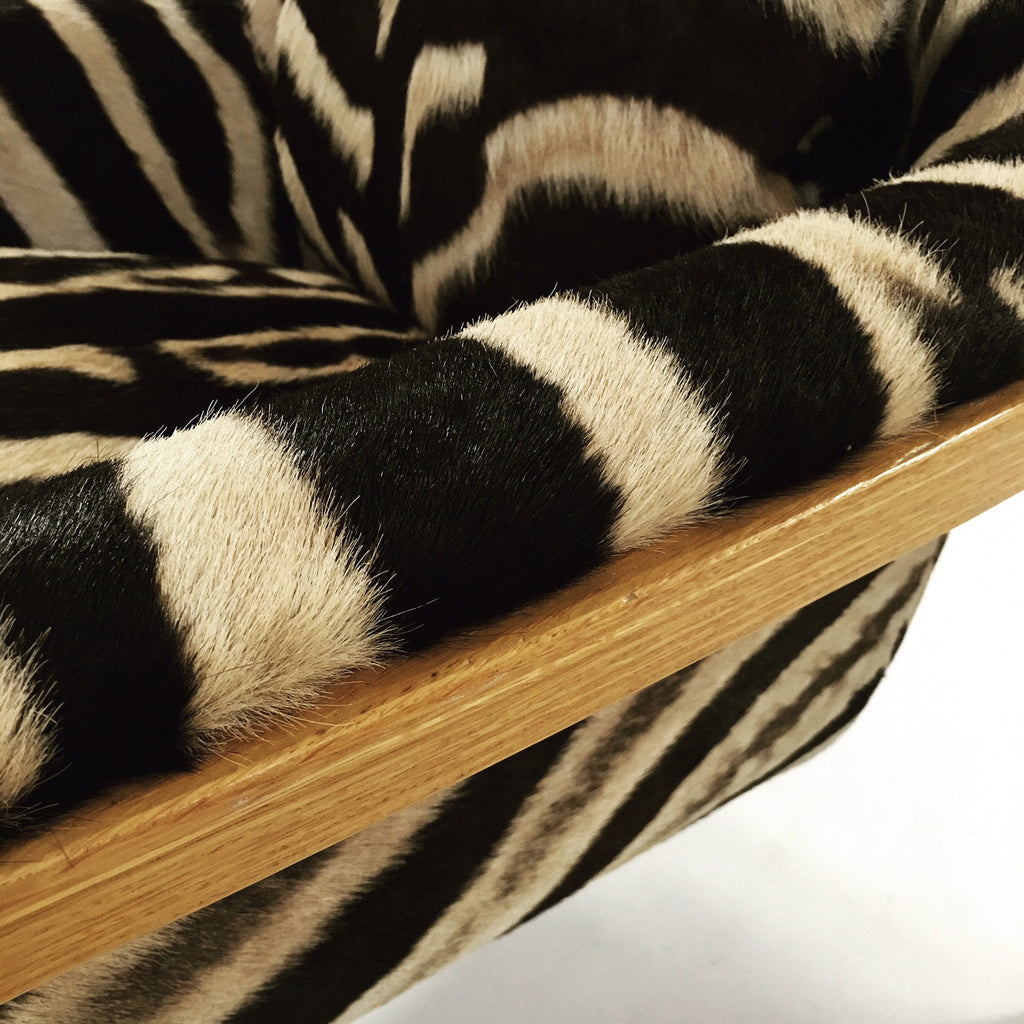 Bill Stephens for Knoll Lounge Chair in Zebra Hide - FORSYTH