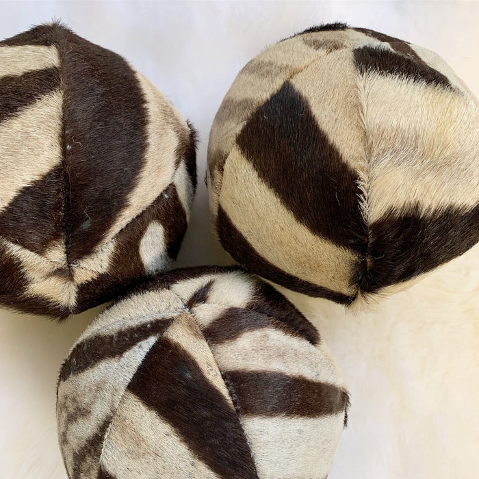 Zebra Ball Pillow 7""