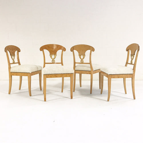 Biedermeier Chairs in Brazilian Cowhide, set of 4 - FORSYTH