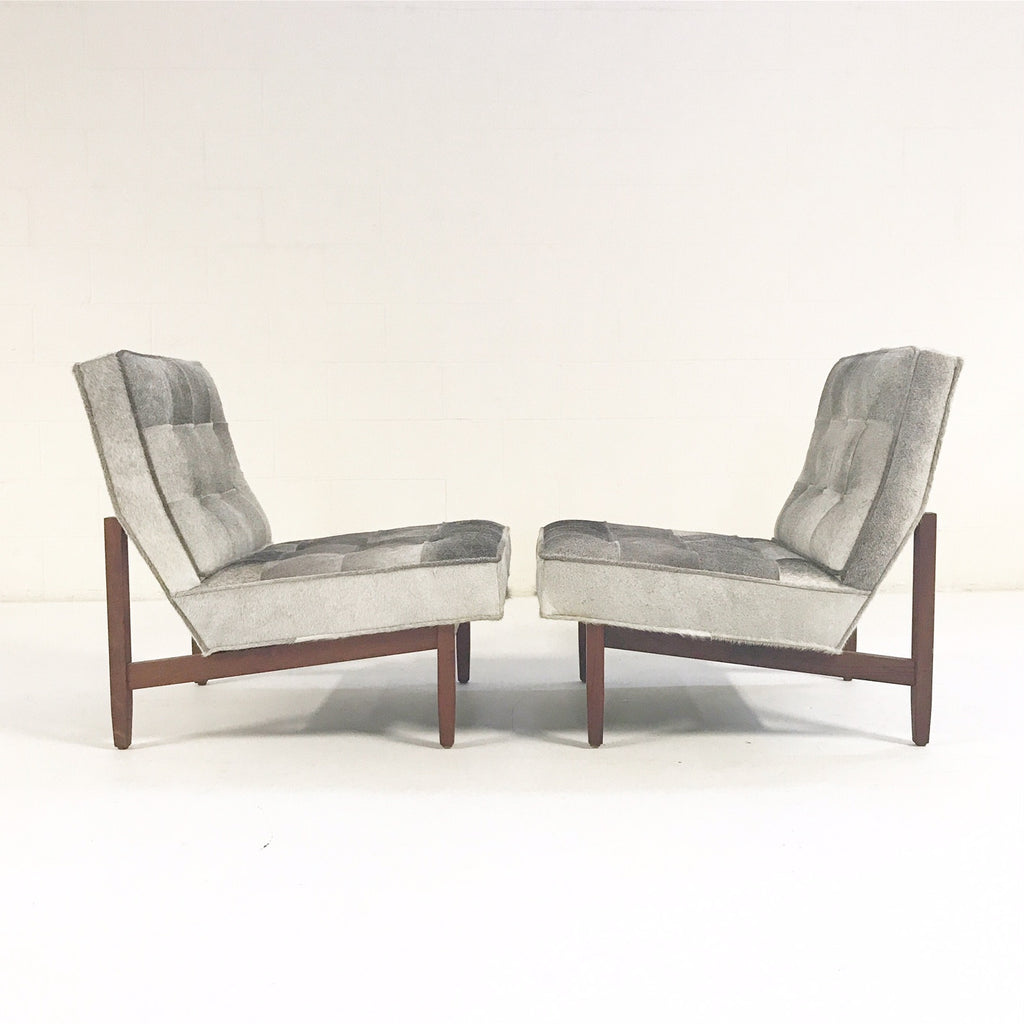 Florence Knoll Lounge Chairs Restored in Brazilian Cowhide - Pair - FORSYTH