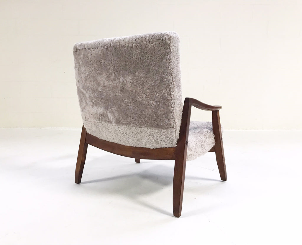 Vintage Milo Baughman Scoop Lounge Chair Restored in Shearling - FORSYTH