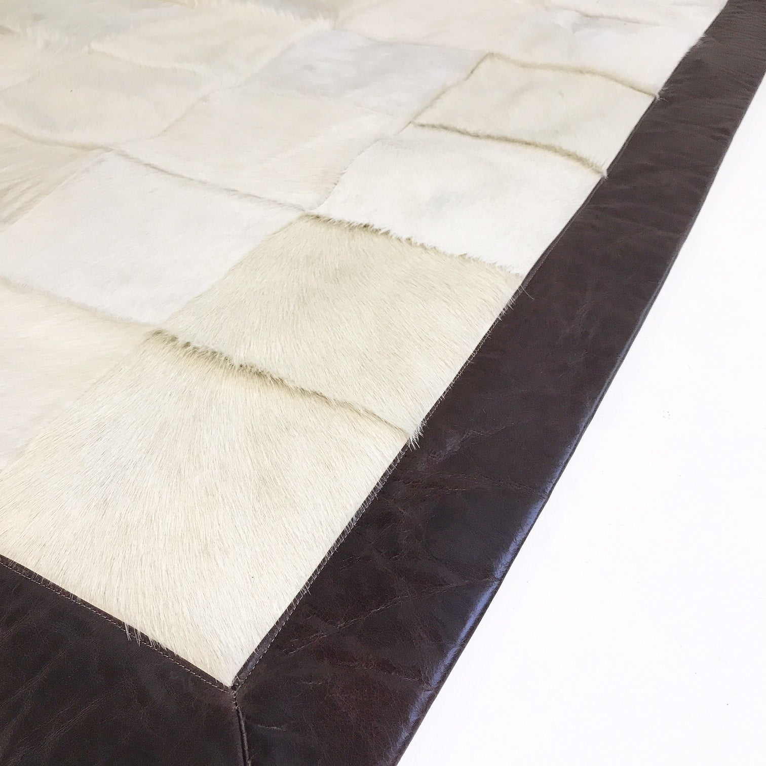 Brazilian Cowhide Patchwork Rug, 8x10 ft