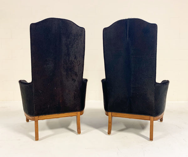 Traditional Armchairs in Brazilian Cowhide, pair - FORSYTH