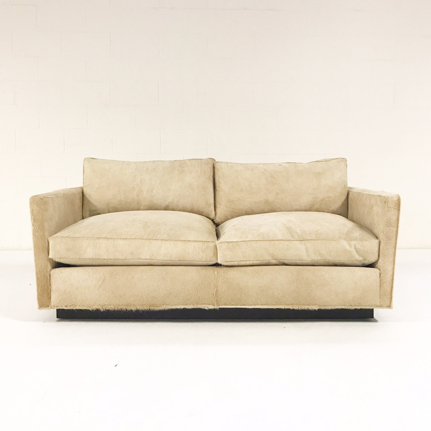 Loveseat in Brazilian Cowhide - FORSYTH