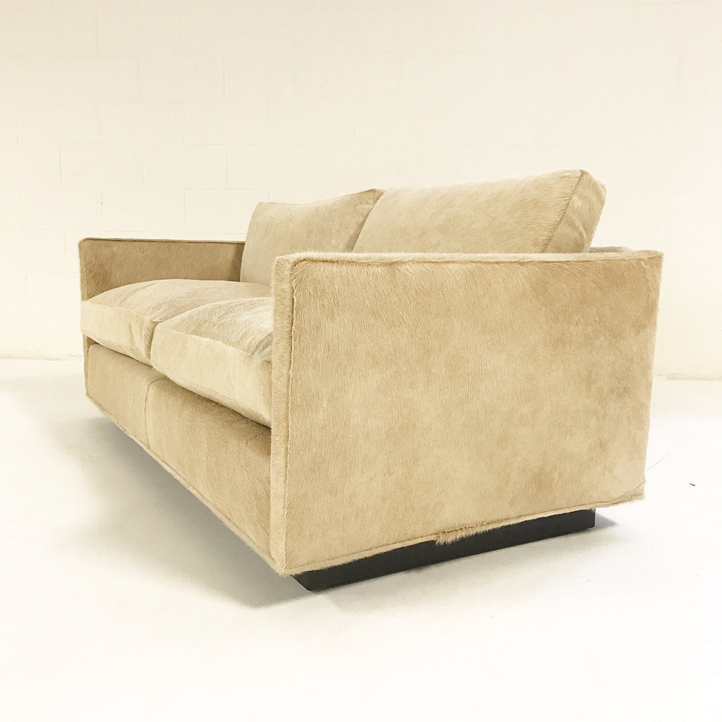 Milo Baughman for Thayer Coggin Loveseat Sofa in Brazilian Cowhide - FORSYTH