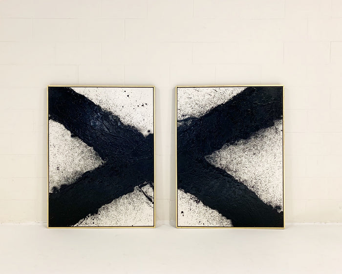 "John O'Hara. Tar, 10. Two Panel Work. 37.25x49.25"" - FORSYTH"