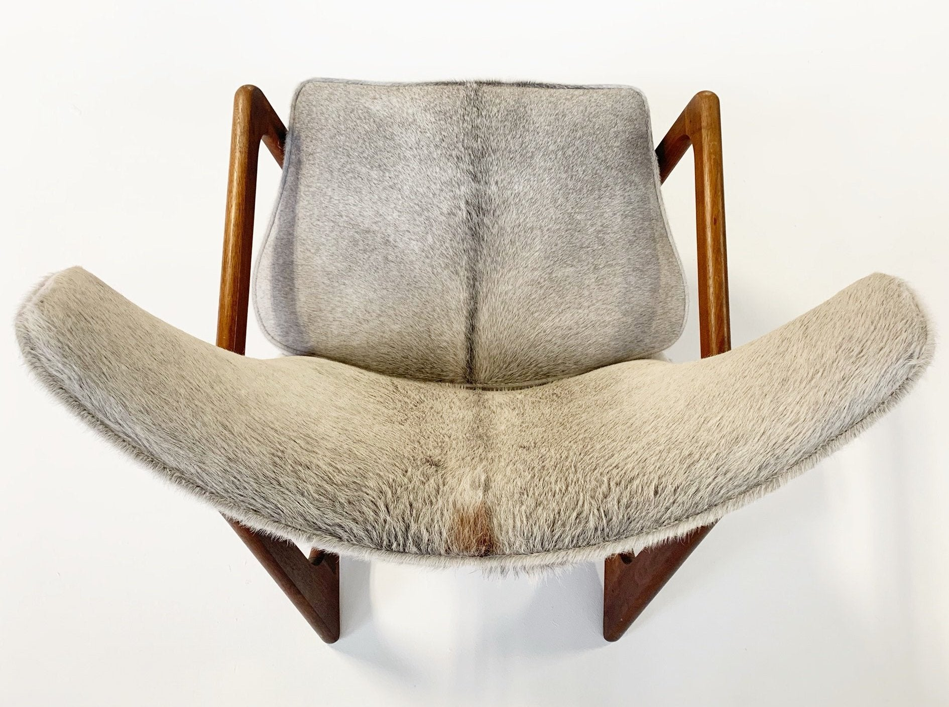 Model 2466-C Lounge Chair in Brazilian Cowhide - FORSYTH
