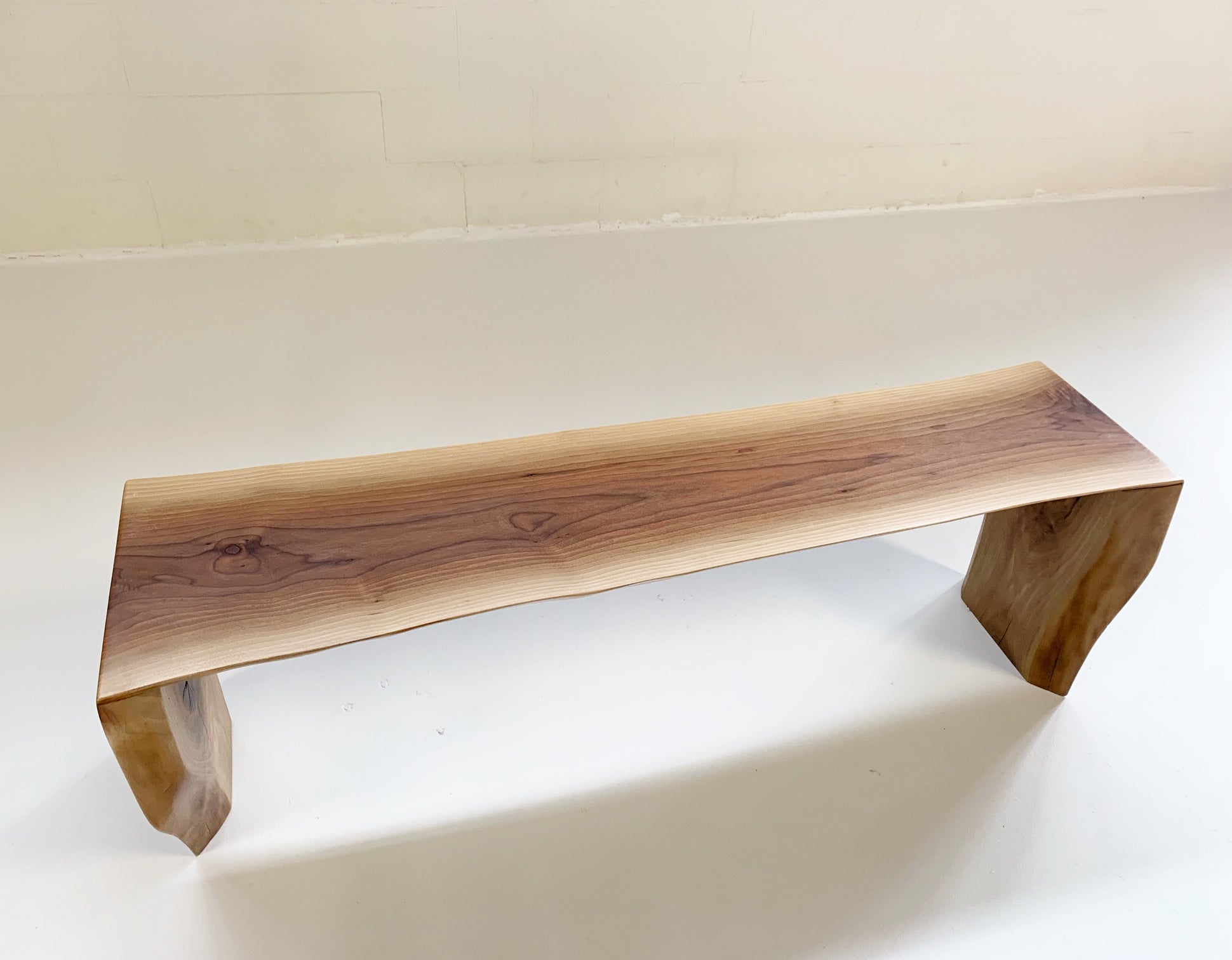 Walnut Bench with Gotland Sheepskin - FORSYTH
