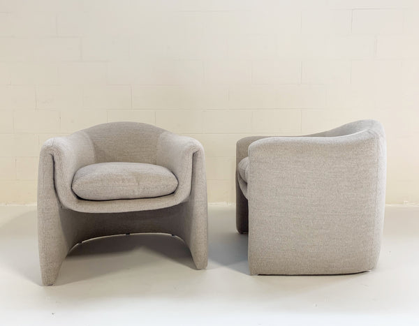 Modernist Chairs in Loro Piana Alpaca Wool, pair - FORSYTH