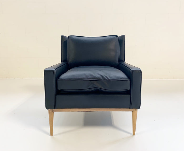 Paul McCobb for Directional Model 302 Lounge Chair in Loro Piana Bufalo Leather - FORSYTH