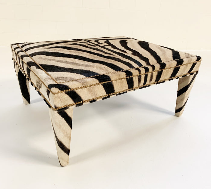 Zebra Hide Ottoman Coffee Table