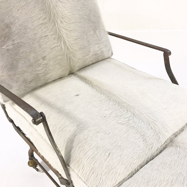 French Campaign Chaise with Brazilian Cowhide Cushions - FORSYTH