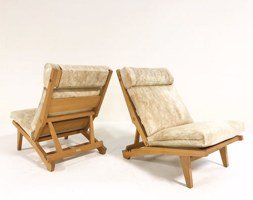 AP71 Lounge Chairs Restored in Brazilian Cowhide, pair - FORSYTH