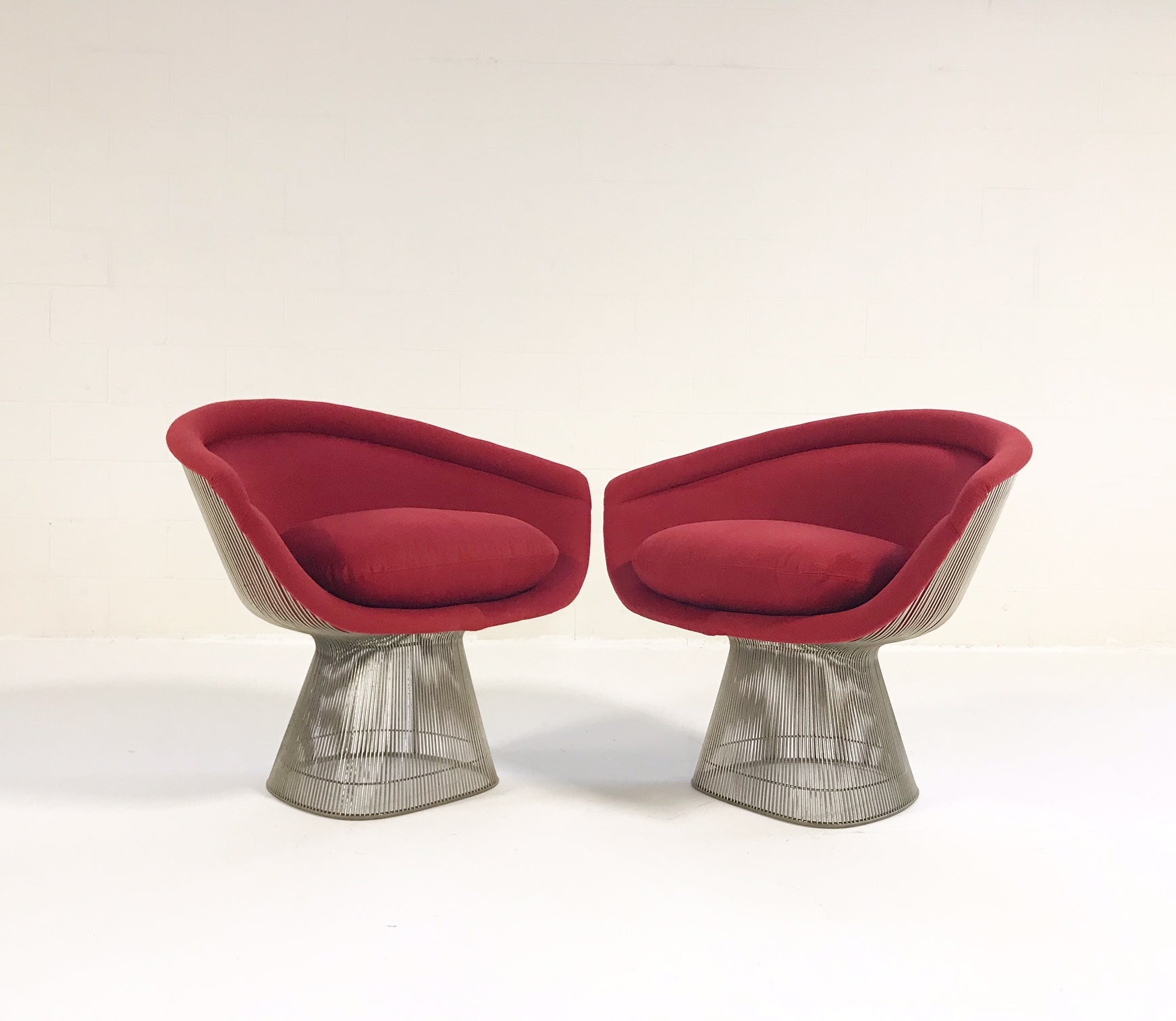 Lounge Chairs in Loro Piana Cashmere, pair - FORSYTH
