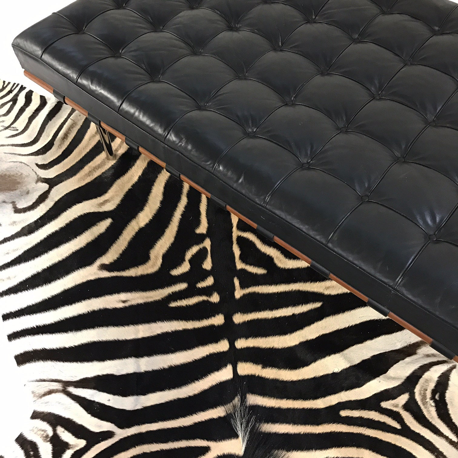 Barcelona Daybed with Zebra Hide Rug - FORSYTH