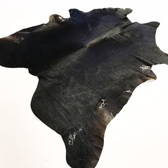 NATURAL BLACK COWHIDE RUG - SWAIN - FORSYTH
