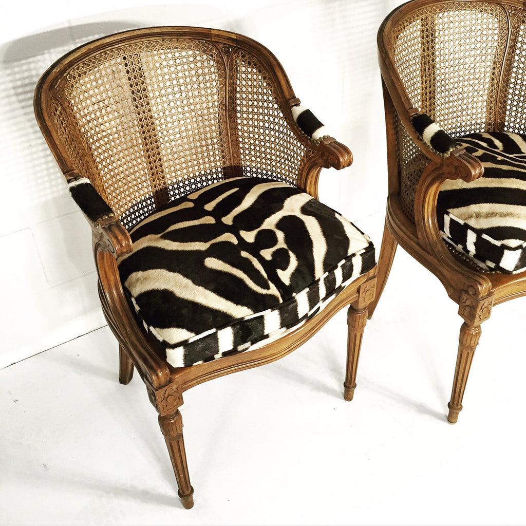FRENCH CANED ARMCHAIRS - FORSYTH