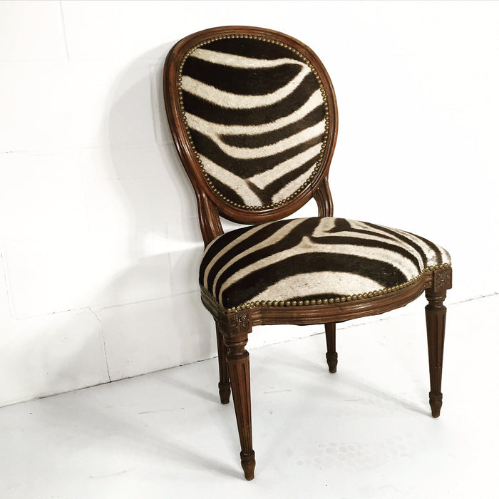 LOUIS XVI WALNUT SIDE CHAIR - FORSYTH