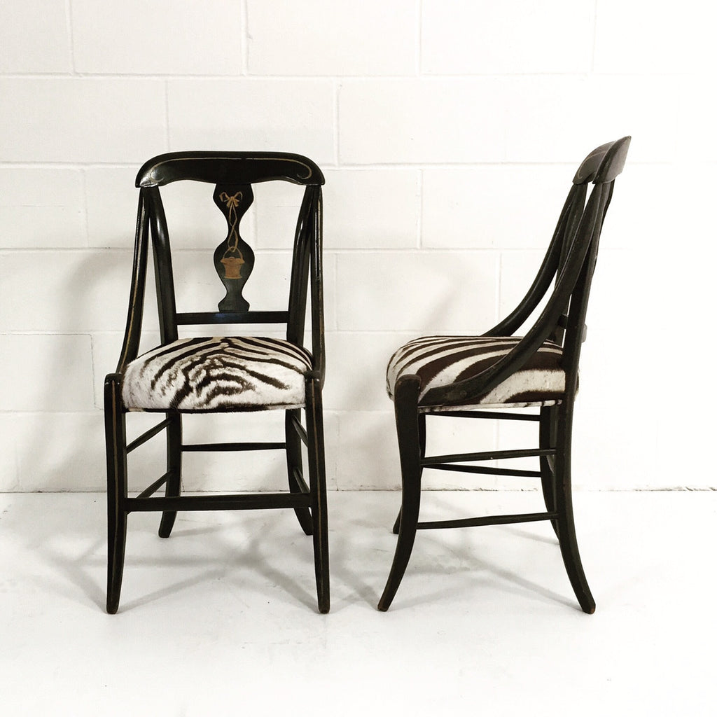 Victorian Black Painted Side Chairs - FORSYTH