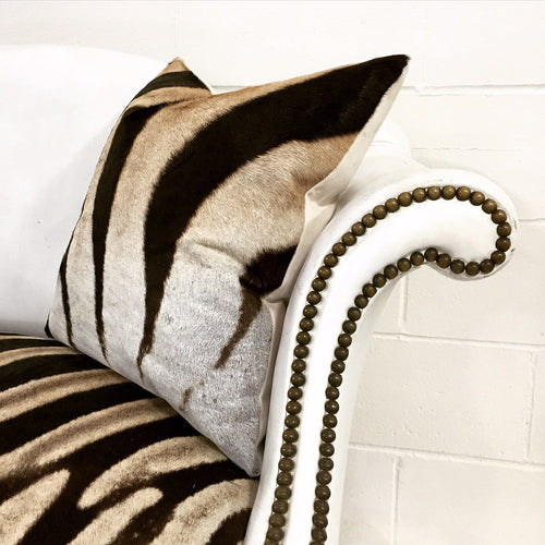Loveseat in Zebra Hide - FORSYTH