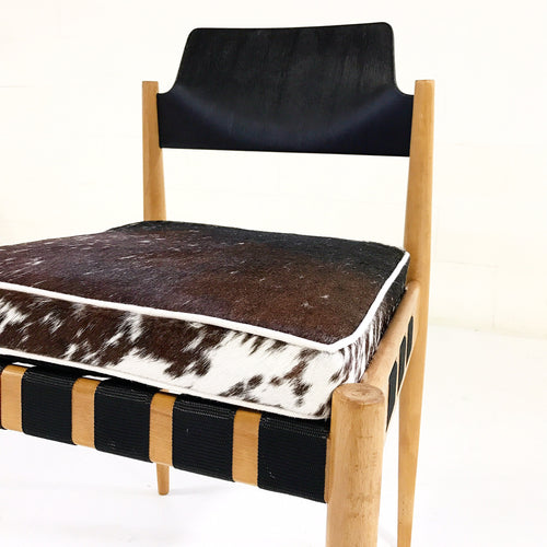 SE 120 Chairs with Custom Brazilian Cowhide Cushions, set of 6 - FORSYTH