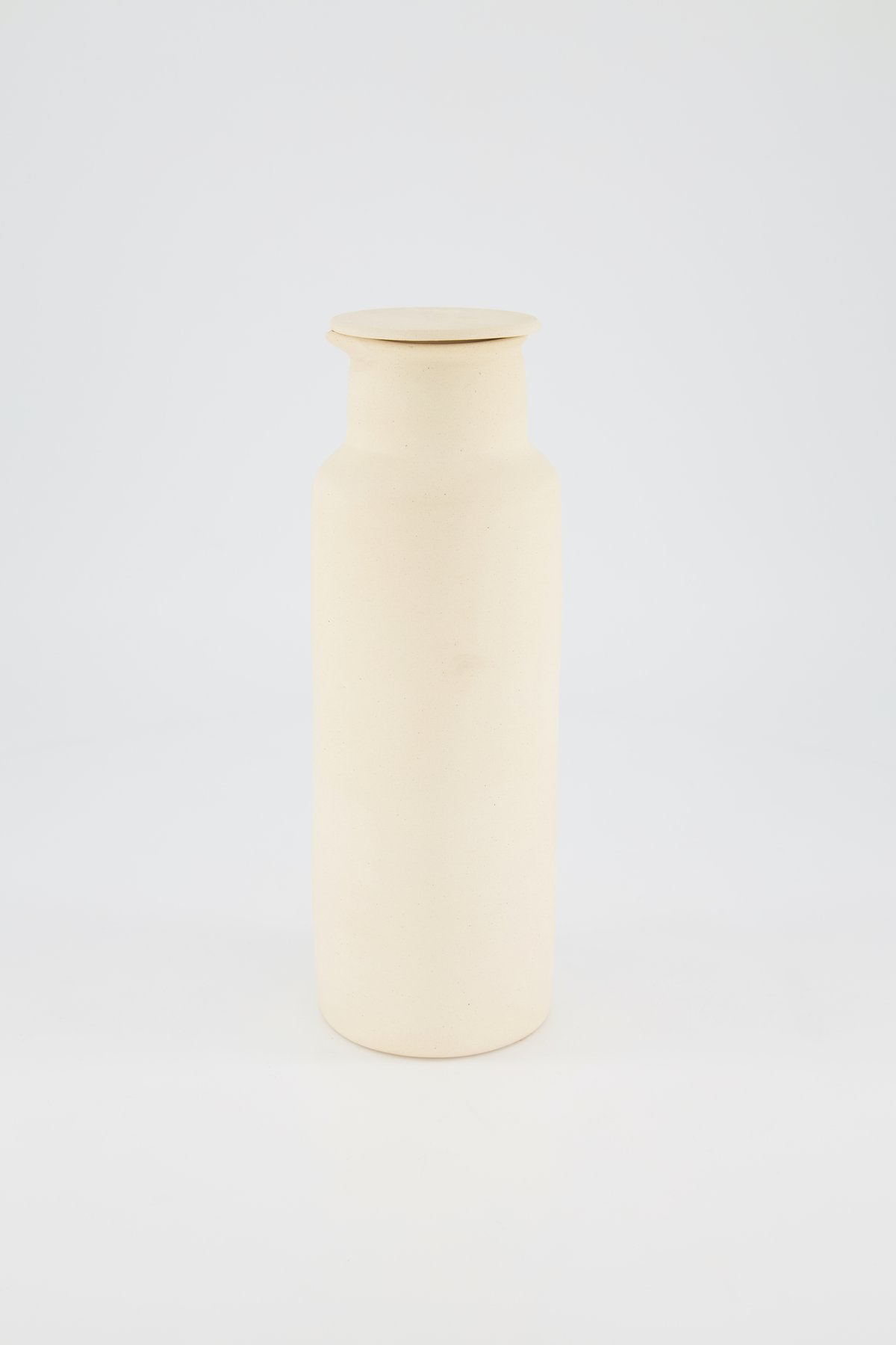 Clay Water Pitcher, Ivory