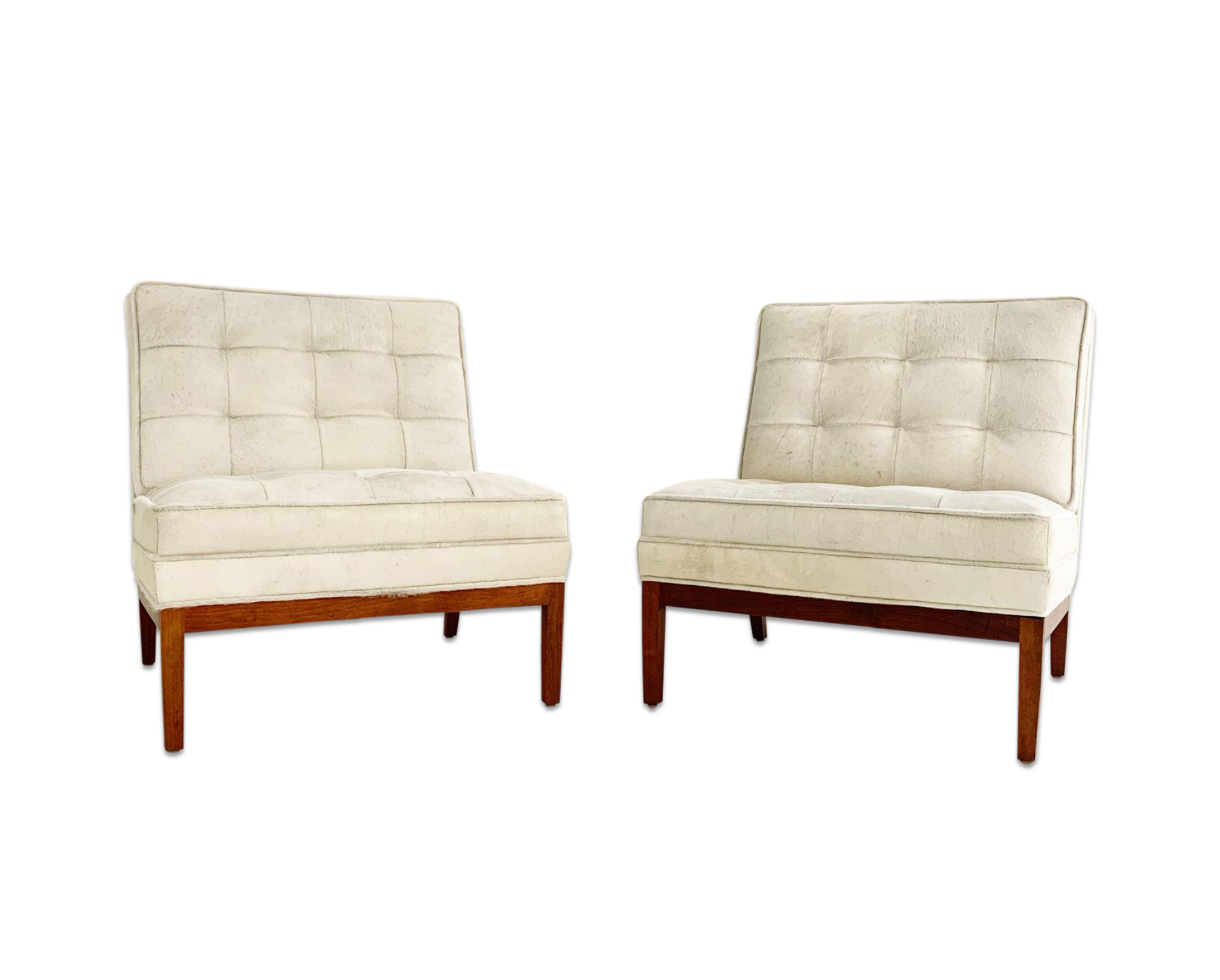 Lounge Chairs in Brazilian Cowhide, pair