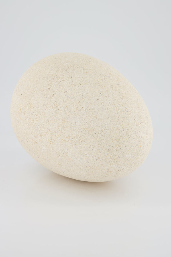 Large Limestone Egg Sculpture.